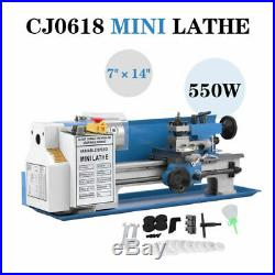 110V 7 x 14 550W Variable-Speed Mini Metal Lathe Variable 0.75HP Speed 2500RPM