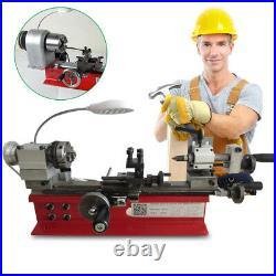 110V DIY Miniature CNC Metal Wood Multifunction Mini Lathe Machine 2500RPM 400W