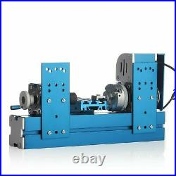 110V Mini Motorized Lathe Machine DIY Tool Metal Woodworking Hobby Modelmaking
