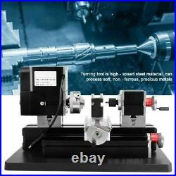 12V DC/5A/60W High Power Metal DIY Mini Lathe Machine Tool 12000rpm