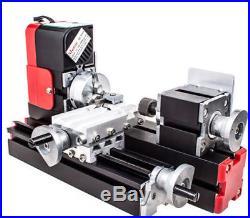 12V Mini Miniature Metal Multifunction Lathe Machine DIY 20000Rev/min 45135mm