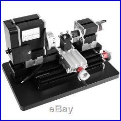 12VDC/60W DIY High Power Mini Metal Lathe Woodworking Machine US Plug 100V-240V