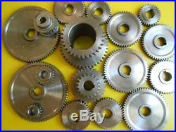 17 Pcs Mini Lathe Metal Cutting Machine Parting Tool Set Exchange Gears Working