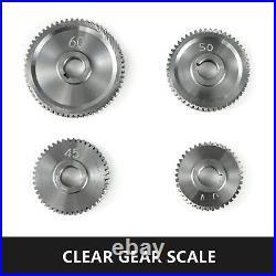 17Pcs/Set CJ0618 Mini Lathe Gears T20-T80 Metal Exchange Gear Lathe Machine