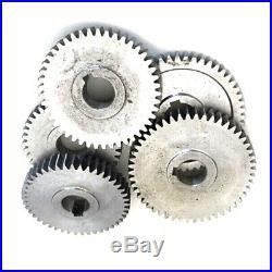 17Pcs/Set Mini Lathe Gears, Metal Cutting Machine Gears, Lathe Gears H2F1