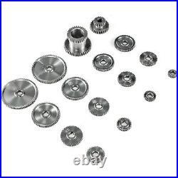 17Pcs/Set Mini Lathe Gears, Metal Cutting Machine Gears, Lathe Gears P4M8