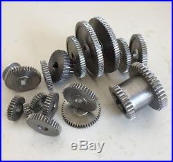 17pcs / Set Mini Lathe Gears, Metal Cutting Machine gears, Lathe Gears Free Sh
