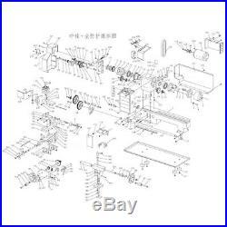 18Pcs CJ0618 Metal Gears Mini Lathe Gear Metal Cutting Machine Tool Gea A4V3 SR