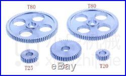 18pcs set mini lathe gears, Metal Cutting Machine gears, lathe gears
