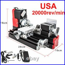 20000r/min Mini Miniature Multifunction DIY CNC Metal Motorized Lathe Machine