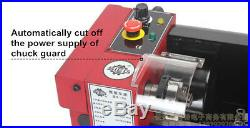 220V Mini metal processing machine Metal lathe with65mm 3-jaw chuck 150W