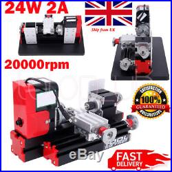 24W 2A Motorized Mini Metal Working Lathe Machine DIY Tool fr Hobby High Quality