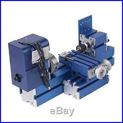 24W Mini Metal Lathe CNC DIY Tool Woodworking Lathe Machine Hobby Modelmaking