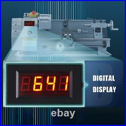 2500rpm Mini Lathe Machine for Turning Milling Drilling Threading Metal 8x14