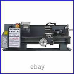 3/4 HP 7x12 Inch 2250rpm Mini Metal Lathe for Turning Cutting Drilling Threading