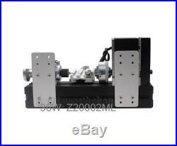 36W Aluminum Metal Mini Table Motorized Lathe Machine DIY Tool Model Woodworking