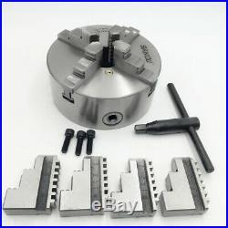 4Jaw K12 Lathe Chuck 160mm Mini Metal Chuck Self-centering Hardened Steel CNC