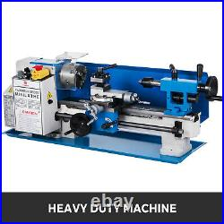 550W 7\X12\ Precision Mini Metal Lathe withLamp Drilling 3-Jaw Chuck 50-2500RPM