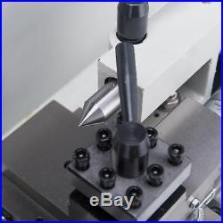 550W 7 x 14Mini Metal Lathe Machine Variable Speed 0-2500 RPM High Precision