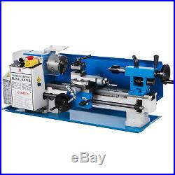 550W 7X12 Precision Metal Mini Lathe withLamp&9 Cutters&Tool Kits Variable Speed