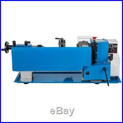 550W 7X12 Precision Mini Metal Lathe withLamp Metalworking 3-Jaw Chuck Bench Top
