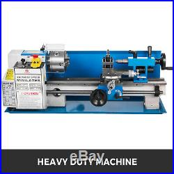 550W 7X14 Precision Mini Metal Lathe withLamp Drilling Wear-Resistant Durable