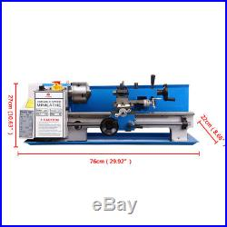 550W Mini Metal Lathe MetalworkingTurning Variable Speed MT2 7x12 0.0004