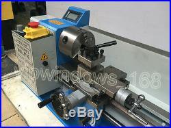 550W Mini Metal Lathe Variable Speed 220V Thread Processing 7 x 14 &3Jaw Chuck