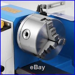 550W Precision Mini Metal Lathe Metalworking 7x14 Variable Speed Metal Turning