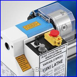 550W Precision Mini Metal Lathe Metalworking Bench Top Variable Speed Readout