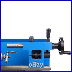 550W Precision Mini Metal Lathe Metalworking Metal Turning Variable Speed 7x12