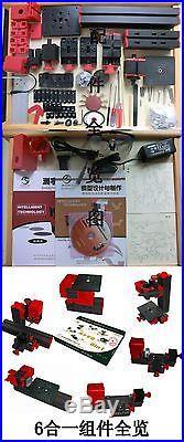 6 In 1 DIY Tool Kit Mini Multipurpose Machine Wood Metal Lathe Milling Drilling
