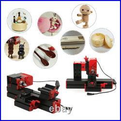 6 In 1 Mini Metal Lathe Tool Jigsaw Milling Lathe Drilling Sanding Machine I9J6