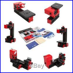 6 In 1 Mini Motorized Lathe Machine 24W Tool Metal Milling Drilling Woodworking