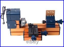 6 In 1 Mini Multipurpose Machine DIY Tool Kit Wood Metal Lathe Milling Drilling