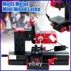 6 In 1 Multi Metal Mini Lathe DIY Wood Model Making CNC Drilling Milling