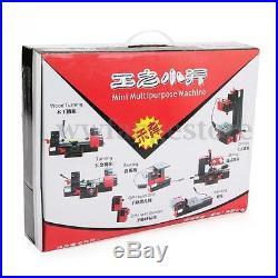 6 In 1 Multi Metal Mini Wood CNC Lathe Motorized Jig-saw Grinder Drilling