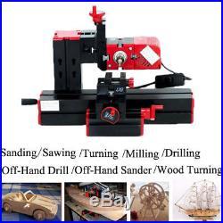 6 In1 Multi Metal Mini Lathe DIY Wood Model Making CNC Drilling Milling Machine