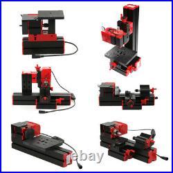 6 in 1 DIY Mini Metal Motorized Lathe Machine Woodworking Turning Tool Kit J6Y3
