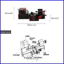 6 in 1 DIY Mini Wood Metal Motorized Lathe Machine Woodworking Turning Tool N3X8