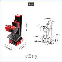 6 in 1 Mini Metal Motorized Lathe Milling Drilling Sanding Machine DIY Wood Tool