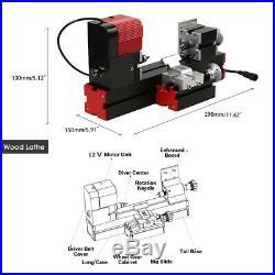6 in 1 Mini Multipurpose Machine Wood Metal Lathe Milling Driller DIY Tool D9N1
