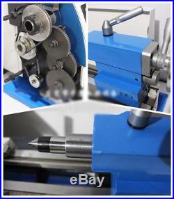 600W 2 Speed Precision Mini Metal Lathe Multifunctional Bench Lathe 110V