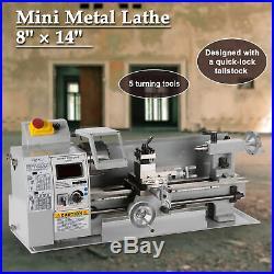 600W 8x 14 Mini Metal Milling Lathe Variable Speed 2500 RPM & Digital DC Motor