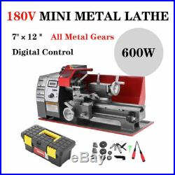 600W Mini Metal Lathe Metalworking Woodworking Metal Gears Bench Metalworking