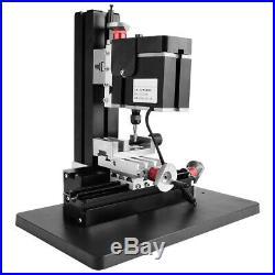 60W 100-240V DIY Mini Metal Lathe Miniature Milling Machine Miller Reliable