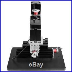 60W 12000RPM 100-240V Mini Metal Lathe DIY Miniature Milling Machine Miller kit