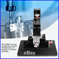 60W 12000RPM Mini Metal Lathe DIY Miniature Milling Machine 100-240V New