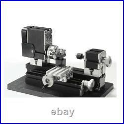 60W 12000rpm Mini Metal Lathe Soft Metalworking Woodworking DIY Model Making
