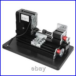 60W DIY Mini Wood Metal Motorized Lathe Machine Woodworking Turning Tool Kit